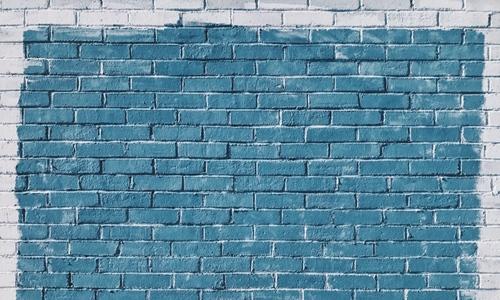 Blue and White Bricks