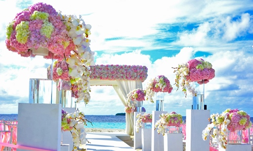 Pink Beach Ceremony
